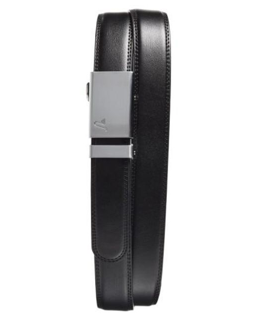 Mission Belt - Black 'alloy' Leather Belt for Men - Lyst