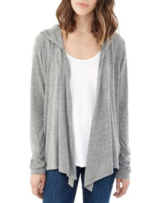 Alternative Apparel - Gray Hooded Jersey Wrap - Lyst