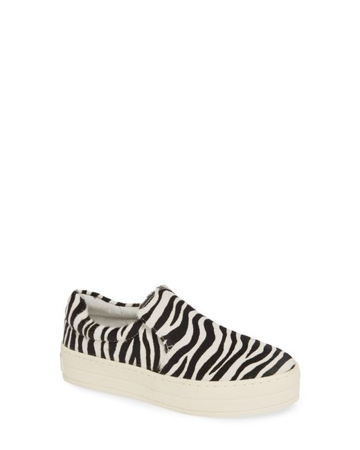 31a540a35ec9 Lyst - J Slides Harry Sneaker Zebra Pony Hair in Black - Save 59%