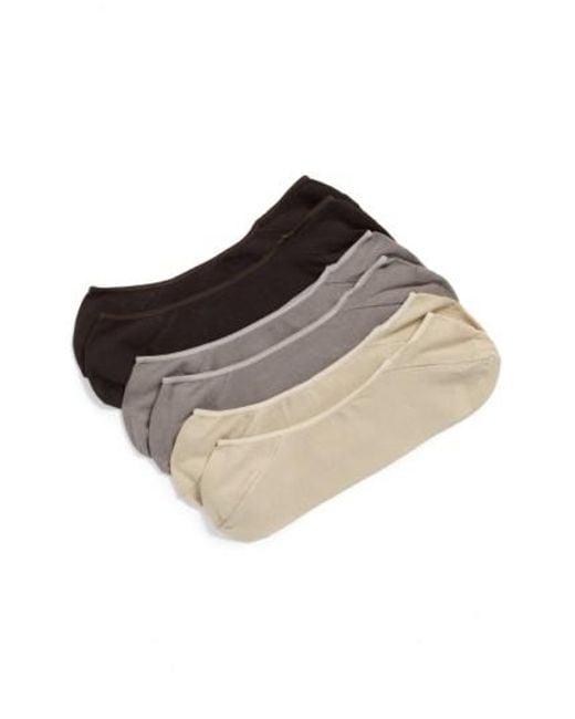 Calvin Klein   Multicolor 3-pack No-show Socks, Beige for Men   Lyst