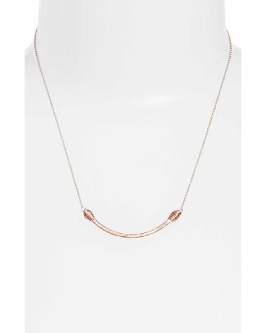 Nashelle - Metallic Pure Curve Necklace - Lyst