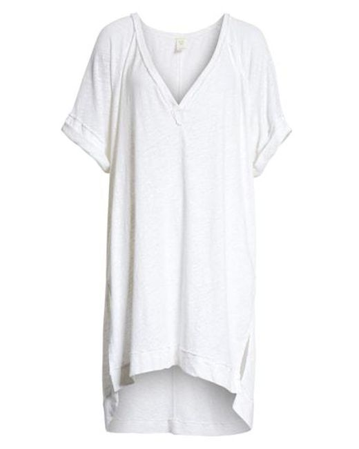 Free People - White Diego Tee - Lyst