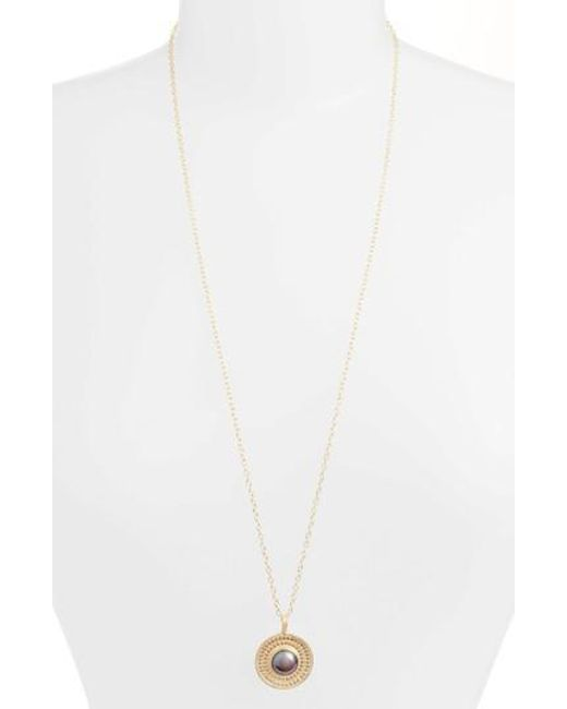Anna Beck - Genuine Blue Pearl Medallion Necklace - Lyst