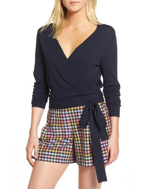 Nordstrom - Blue 1901 Wrap Sweater - Lyst