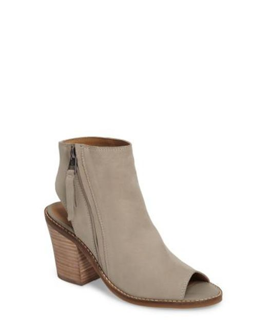 Lucky Brand | Brown Terrie Peep Toe Bootie | Lyst