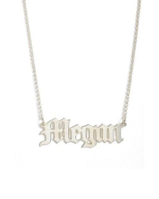 Argento Vivo - Metallic Personalized English Font Name Necklace - Lyst