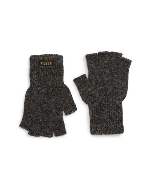 Lyst - Filson Fingerless Wool Blend Knit Gloves for Men
