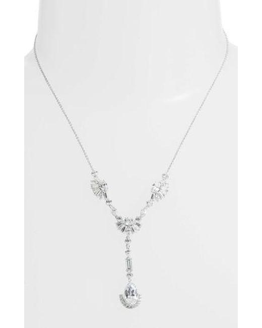Nadri - Metallic Fanfare Y-shape Necklace - Lyst