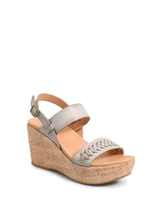 Kork-Ease - Gray Kork-ease Austin Braid Wedge Sandal - Lyst