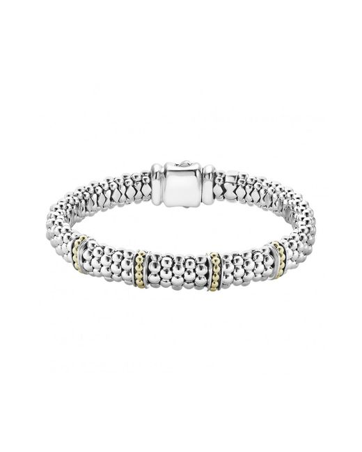 Lagos - Metallic 'enso' Two-tone Rope Caviar(tm) Bracelet - Lyst