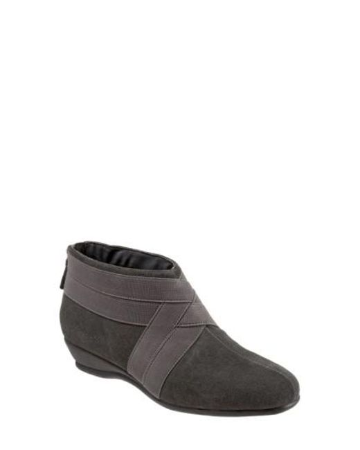Trotters | Gray 'latch' Bootie (women) | Lyst
