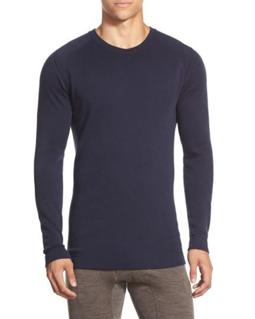 Smartwool - Blue Long Sleeve Thermal T-shirt for Men - Lyst
