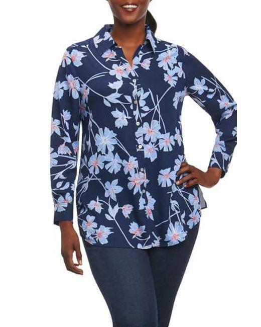 Foxcroft | Blue Ivy Coastal Floral Shirt | Lyst
