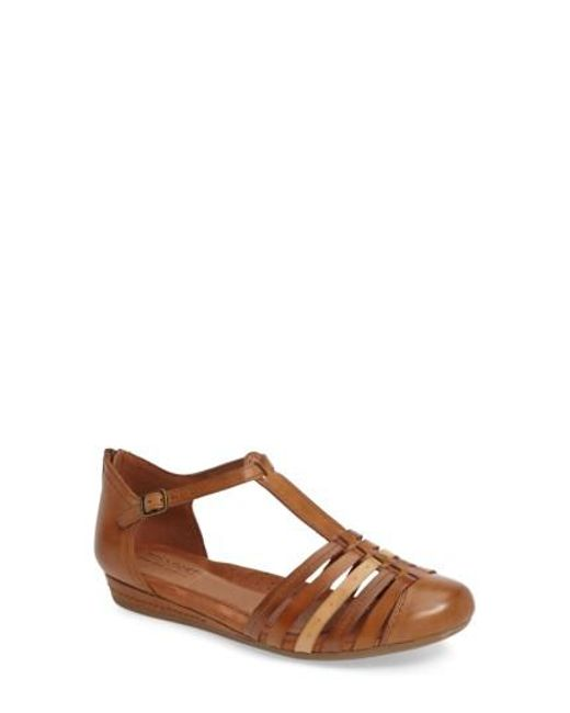 Cobb Hill - Brown Galway T-strap Sandal - Lyst