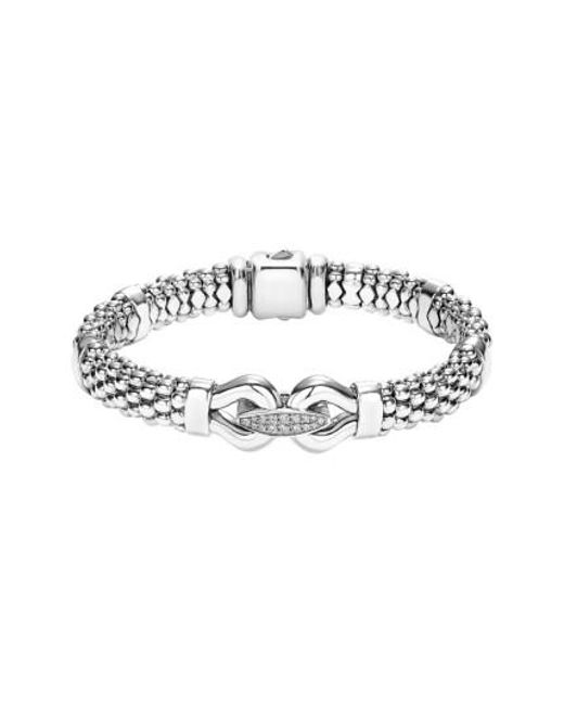 Lagos | Metallic 'derby' Diamond Buckle Rope Bracelet | Lyst