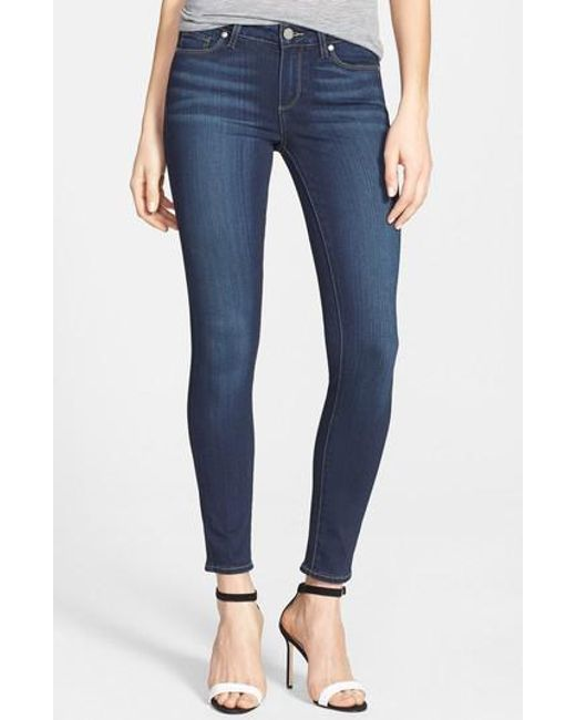 PAIGE - Blue 'transcend - Verdugo' Ankle Skinny Jeans - Lyst