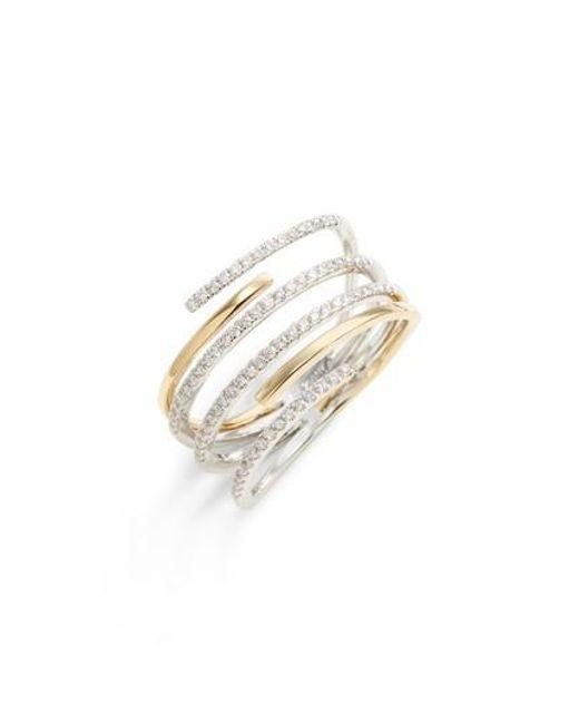 Bony Levy - Metallic Openwork Diamond Ring (nordstrom Exclusive) - Lyst
