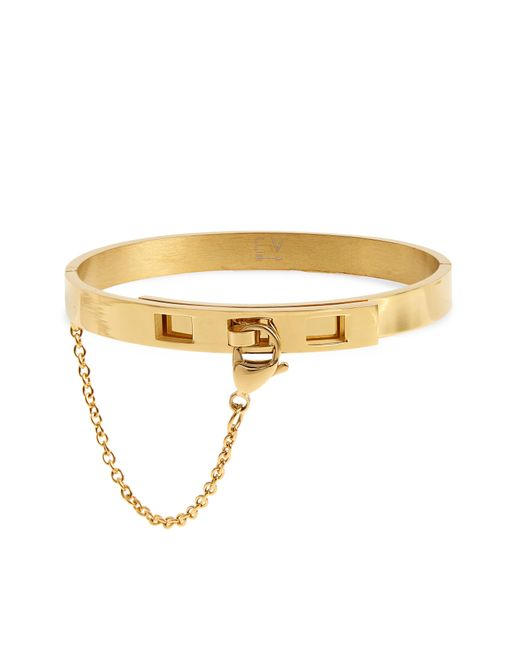 Ellie Vail - Metallic Pierced Lock Bracelet - Lyst
