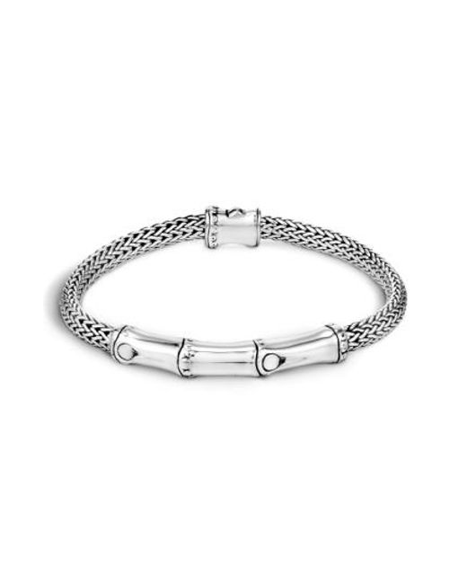 John Hardy | Metallic 'bamboo' Sterling Silver Station Bracelet | Lyst