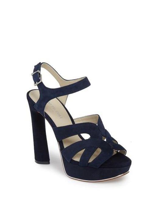 Kenneth Cole Women's Nealie Suede High-Heel Platform Sandals 1gkth8z