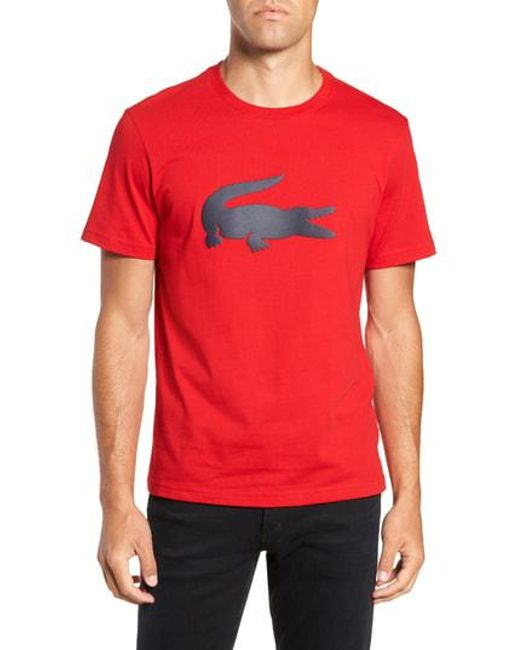 Lacoste - Black Crocodile T-shirt for Men - Lyst