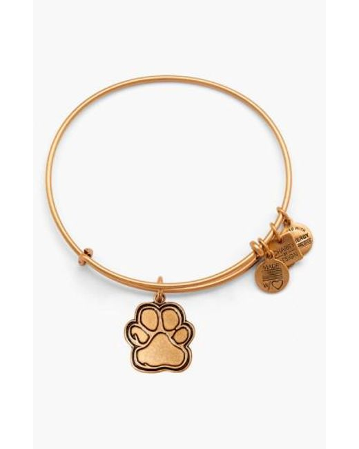 ALEX AND ANI - Metallic 'charity By Design - Prints Of Love' Expandable Wire Bangle - Lyst