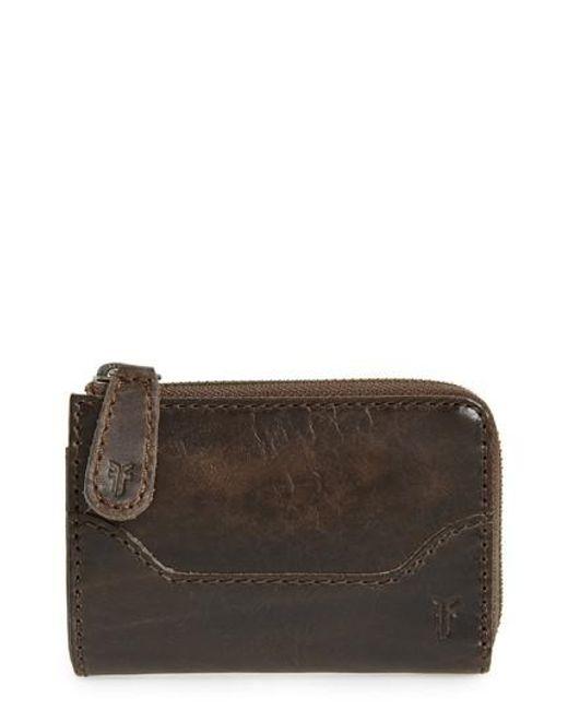Frye | Brown Small Melissa Leather Zip Wallet | Lyst