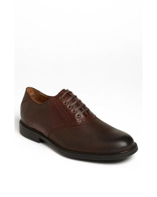 Johnston & Murphy | Brown 'cardell' Waterproof Saddle Oxford for Men | Lyst