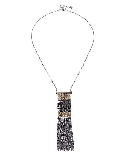 Nakamol - Metallic Fringe Chain Necklace - Lyst