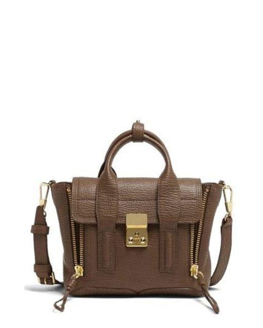 3.1 Phillip Lim - Brown 'mini Pashli' Leather Satchel - Lyst