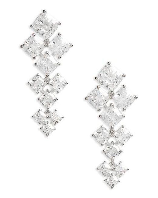 Nadri   Metallic Vera Crystal Drop Earrings   Lyst
