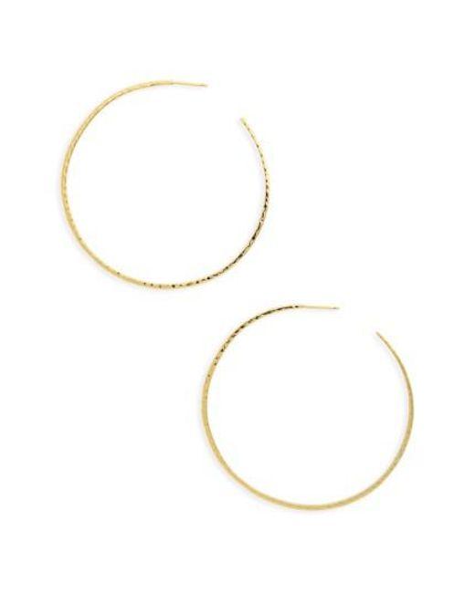 Gorjana | Metallic Taner Extra Large Hoop Earrings | Lyst