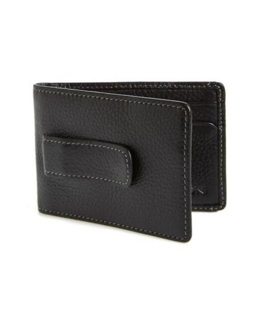 Boconi | Black 'tyler' Money Clip Wallet for Men | Lyst