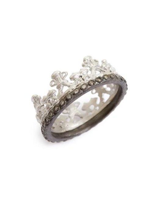Armenta - Metallic Old World Half Crown Diamond Ring - Lyst