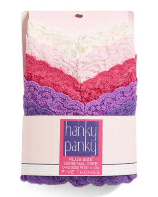 Hanky Panky | Pink Thong | Lyst