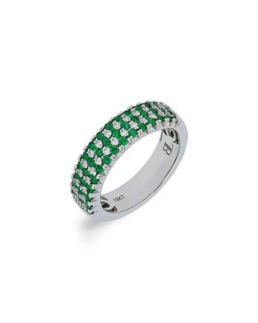 Bony Levy | Metallic Emerald & Diamond Ring (nordstrom Exclusive) | Lyst