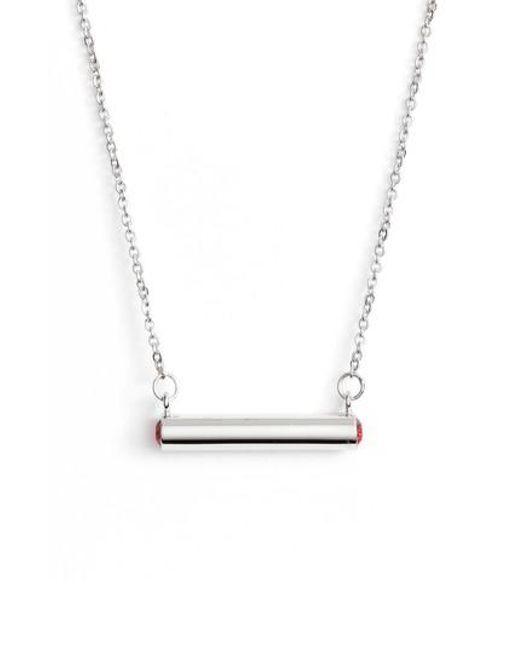 Stella Valle | Metallic Stella Vale July Crystal Bar Pendant Necklace | Lyst