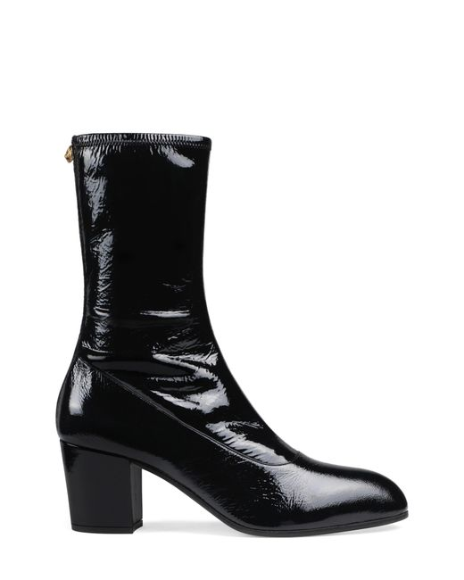956fe5149178a ... Gucci - Black Printyl Patent Leather Zip Boot for Men - Lyst