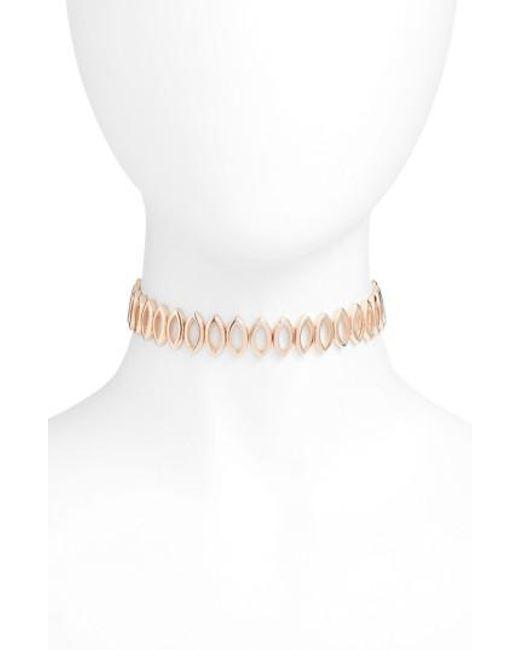 Rebecca Minkoff   Multicolor Navette Choker Necklace   Lyst