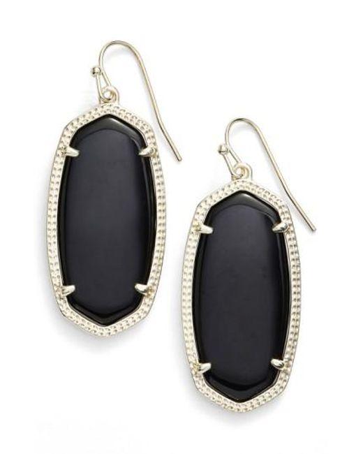 Kendra Scott - Black 'elle' Drop Earrings - Lyst