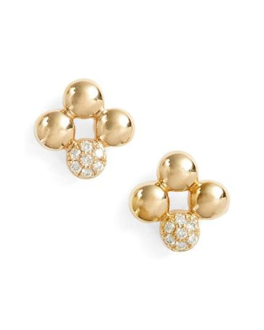 Dana Rebecca | Metallic Poppy Rae Clover Diamond Stud Earrings | Lyst