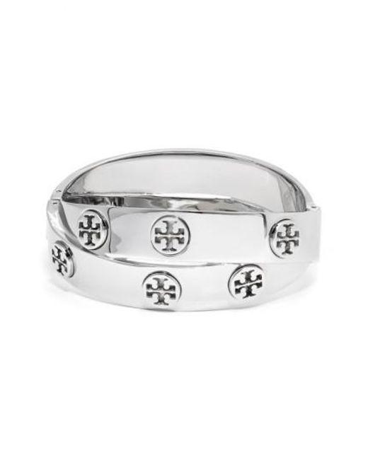 Tory Burch   Metallic Logo Faux Wrap Bracelet   Lyst