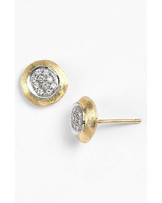 Marco Bicego - Metallic 'delicate' Diamond Stud Earrings - Lyst