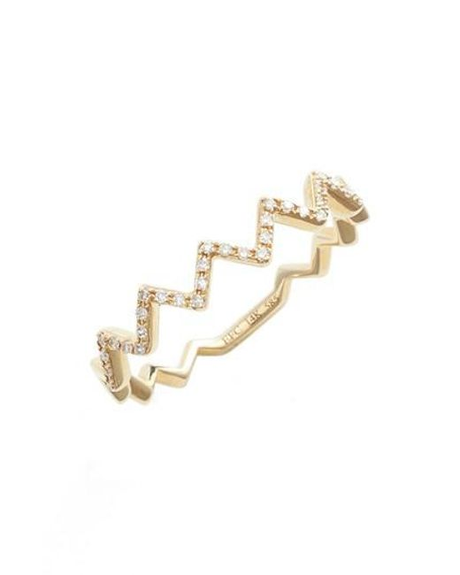 EF Collection - Metallic Zigzag Diamond Stack Ring - Lyst