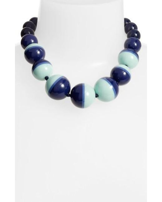 Kate Spade | Blue In A Flash Collar Necklace | Lyst