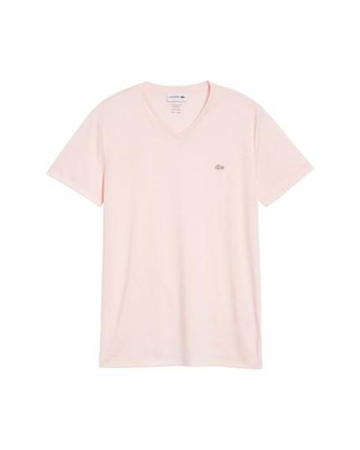 Lacoste | Pink Pima Cotton T-shirt for Men | Lyst
