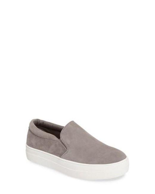 Steve Madden - Gray Gills Platform Slip-on Sneaker for Men - Lyst