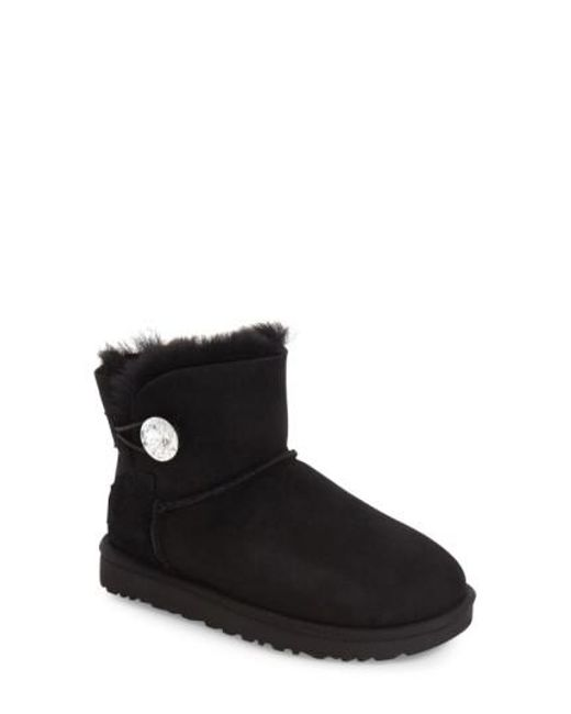 Ugg - Black Ugg Mini Bailey Button Bling Boot - Lyst