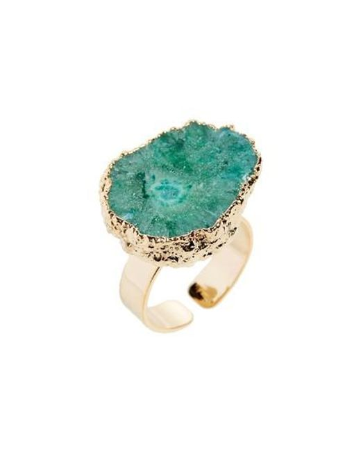 Panacea - Green Agate Ring - Lyst