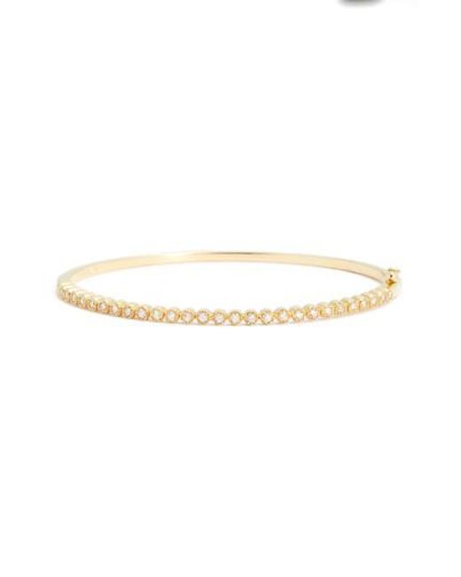 Bony Levy - Metallic Harlowe Circle Diamond Hinge Bangle (nordstrom Exclusive) - Lyst